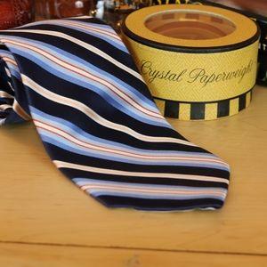 Prestwick & Moore Woven Striped Silk Tie